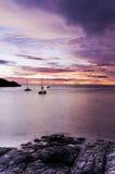 Racha di tramonto raya Fotografia Stock