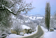 Racha in winter (Georgia) Royalty Free Stock Photography