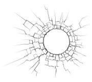 Rachadura do círculo fotografia de stock