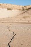 Rachadura na areia Imagens de Stock