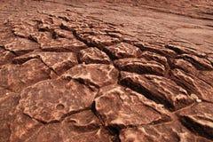Rachadura na terra Imagens de Stock