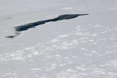 Rachadura no gelo Fotografia de Stock