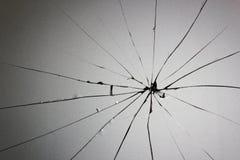 Rachaduras de vidro quebradas Fotos de Stock