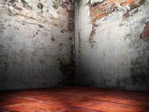 Rachaduras do canto das paredes de tijolo Imagem de Stock Royalty Free