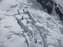 Rachaduras do gelo Fotografia de Stock