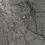 Rachaduras no asfalto Fotografia de Stock Royalty Free