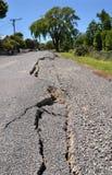 Rachaduras novas em Avonside, terremoto de Christchurch Imagens de Stock