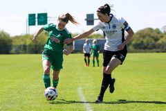 Rachael nolla ?Regan p? kvinnornas leken f?r nationella liga: Cork City FC vs Galway WFC royaltyfria foton