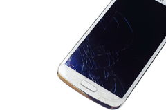 Rachamento da tela do telefone celular Imagem de Stock