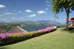 Rachaprapha Dam in Thailand Stock Image