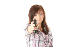 Rache der jungen Frau Stockbild