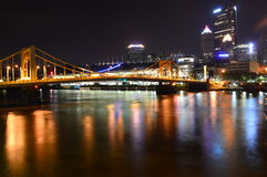 Rachel Carson Bridge Pittsburg Royaltyfri Foto