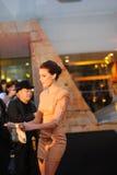 Rachel Finch bij de Tentoonstelling Open Melbourne van Tut van de Koning royalty-vrije stock foto