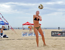 Rachel Johnston - female beach volleyball set Stock Photography