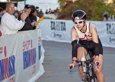 Rachel Kiers Racing in the Arizona Ironman Triathl Royalty Free Stock Image