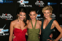 Rachel McCord, AnnaLynne McCord and Angel McCord at the Breakthrough Of The Year Awards,  Pacific Design Center, West Hollywood, C Royalty Free Stock Photos