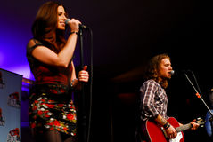Rachel Reinert and Tom Gossin of Gloriana Royalty Free Stock Photos