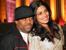 Rachel Roy and Damon Dash. Sultry fashion designer Rachel Roy and then husband, entrepreneur Damon Dash arrive for the Vanity Fair party for the 4th Annual Stock Photography