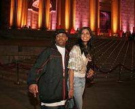 Rachel Roy and Damon Dash. Sultry fashion designer Rachel Roy and then husband, entrepreneur Damon Dash arrive for the Vanity Fair party for the 4th Annual Royalty Free Stock Photos