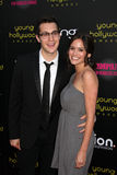 Rachel Specter, Dan Levy. LOS ANGELES - MAY 20:  Dan Levy, Rachel Specter arriving at the 2011 Young Hollywood Awards at Club Nokia at LA Live on May 20, 2011 in Stock Photography