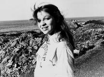 Rachel Sweet. U.S. pop singer, at the Giants Causeway in Northern Ireland on October 29, 1978 Stock Photo