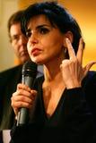 Rachida Dati在佩皮尼昂 库存图片