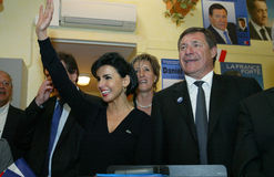 Rachida Dati in Perpignan Stock Photo