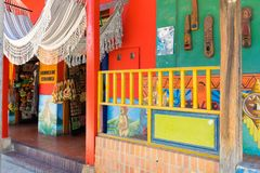 Rachira Kolumbia rękodzieła sklep Zdjęcie Royalty Free