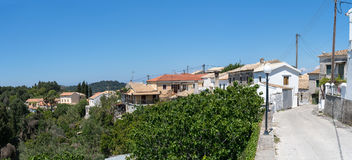 Rachtades village in Corfu Royalty Free Stock Image