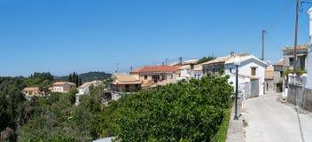 Rachtades wioska w Corfu obraz royalty free