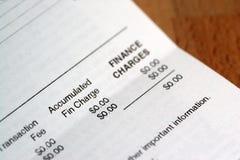 rachunek Obraz Stock