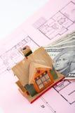 rachunek dolara do domu Zdjęcie Royalty Free