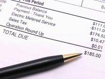 rachunek elektryczne Zdjęcie Stock