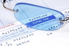 rachunek podatku Obraz Stock