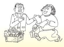 rachunek sklepu spożywczego zakupy royalty ilustracja