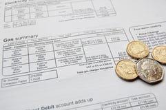 rachunek użyteczność Obraz Stock