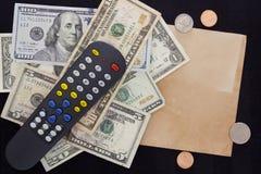 Rachunek za usługę komunalną - TV zdjęcia royalty free