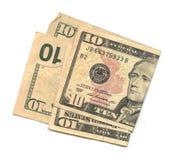 $10 rachunków obrazy stock