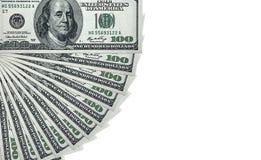 100 rachunków dolarowy pieniądze stos Obraz Stock