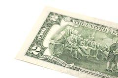 rachunków dolary dwa Obrazy Royalty Free