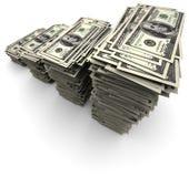 rachunków dolary sto jeden sterty tysiąc Zdjęcia Stock