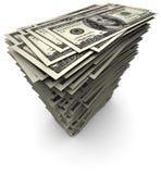 rachunków dolary sto jeden sterty tysiąc Zdjęcie Stock