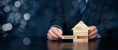 100 rachunków pojęcia dolara dom robić hipotekuje robić Obrazy Royalty Free