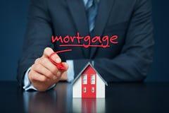 100 rachunków pojęcia dolara dom robić hipotekuje robić Fotografia Stock