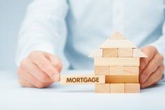 100 rachunków pojęcia dolara dom robić hipotekuje robić Obrazy Stock
