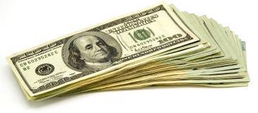 rachunki 100 dolarów Zdjęcia Royalty Free