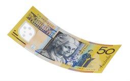 rachunku australijski dolar pięćdziesiąt Obraz Royalty Free
