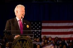 rachunku Clinton fiskus daje mowy uniwersyteta Zdjęcia Stock