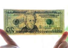 rachunku dolar dwadzieścia Obrazy Stock