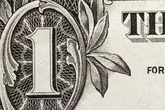 rachunku dolar jeden Obraz Royalty Free